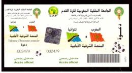 Maroc. Billet  Match Football. 2011. Coupe D'Afrique Des Nations 2012. Maroc#Tanzanie. Tribune D'Honneur Avancée - Otros