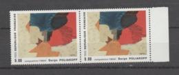 """FRANCE / 1988 / Y&T N° 2554 ** : """"Composition"""" (Serge Poliakoff) X 2 En Paire Dont 1 BdF D - Gomme D'origine Intacte - Neufs"""