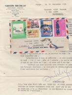 Viet Nam Lettre Entête Plantation Tran Cong Lap  De Saïgon 16/9/1970 à Bergheim Haut Rhin France - Viêt-Nam
