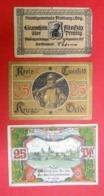 1917-1921 Lot De 26 Billets De Nécessité Divers Usagés Tickets Der Notwendigkert NotgelderStadt à Trier - [11] Local Banknote Issues