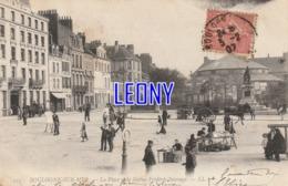 CPA De BOULOGNE SUR MER (62) - La PLACE De La STATUE FREDERIC SAUVAGE N° 275  -  ANIMATIONS  1904 - Boulogne Sur Mer