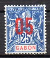Col17  Colonie Gabon N° 70 Neuf X MH Cote  1,50€ - Unused Stamps