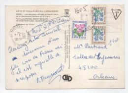 - Carte Postale COLLIOURE Pour ORLÉANS-SAINT-MARCEAU 11.7.1977 - TAXÉE 1,60 FF Fleurs Des Champs - - 1960-.... Covers & Documents