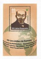 Ref. 109470 * NEW *  - GERMAN DEMOCRATIC REPUBLIC . 1987. CENTENARY OF ESPERANTO. CENTENARIO DEL ESPERANTO - [6] République Démocratique