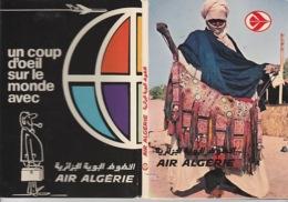 """19 / 11 /  107. -   DÉPLIANT  C P M. """" UN. COUP  D'OEIL  SUR  LE  MONDE   AVEC  AIR  ALGÉRIE   ( 10  VUES ) - Cartes Postales"""