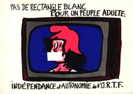 PAS DE RECTANGLE BLANC - POUR UN PEUPLE ADULTE - INDEPENDANCE ET AUTONOMIE DE L'ORTF - Effel