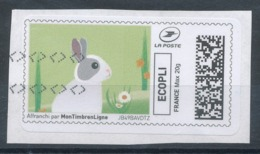 Montimbrenligne Ecopli 20g - Lapin (o) Sur Fragment - Sellos Personalizados (MonTimbraMoi)