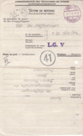 PRISONNIER DE GUERRE 40 45 ALLEMAND EN BELGIQUE BERLIN  VERS CAMP LG  V  CENSURE MILITAIRE BELGE 41 - Militaria