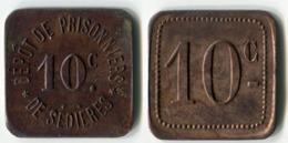 N93-0606 - Monnaie De Nécessité - Clergoux - Dépôt De Prisonniers De Sédières - 10 Centimes - Monétaires / De Nécessité