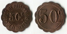N93-0608 - Monnaie De Nécessité - Clergoux - Dépôt De Prisonniers De Sédières - 50 Centimes - Monétaires / De Nécessité