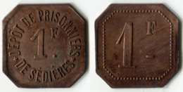 N93-0609 - Monnaie De Nécessité - Clergoux - Dépôt De Prisonniers De Sédières - 1 Franc - Monétaires / De Nécessité