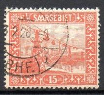 SARRE. N°87 Oblitéré De 1922-23. Transbordeur Sur La Sarre. - Ponts