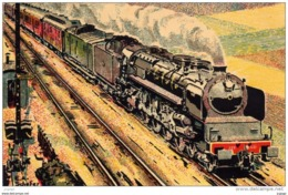"EST 1932  Rapide PARIS-STRASBOURG-METZ   Locomotive ""Mountain"" Série 241 - Treni"