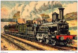 OUEST 1883  RAPIDE POSTE PARIS LE HAVRE  Machine Express, Type 600 - Treni