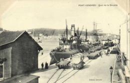 PORT VENDRES  Quai De La Douane Bateaux Wagons Edit Geradié RV - Port Vendres
