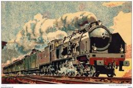 """P.O 1932  RAPIDE PARIS-BORDEAUX  Machine """"Super-Pacific""""  Série 3.700 - Treni"""