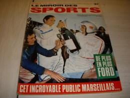 MIROIR Des SPORTS 1252 03.10.1968 AUTO 24h MANS FORD BIANCHI HISTOIRE JO 1964 - Sport