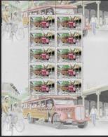 2011 Polynésie Française N°  949 Et 950 Nf** MNH.(Feuilles Entières ) Véhicules Anciens : Truck , Cabriolet Tilbury - Polinesia Francese