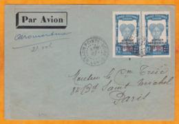 26 Mai 1937 - AEROMARITIME 2e Vol - Enveloppe De Pointe Noire, Congo Vers Paris, France - Cad Arrivée - Lettres & Documents