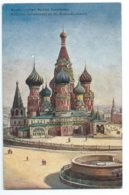 Moscow - The Cathedral Of St. Basil - Tuck Oilette 7675 - Churches & Cathedrals