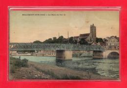 95-CPA BEAUMONT SUR OISE - CARTE TOILEE - Beaumont Sur Oise