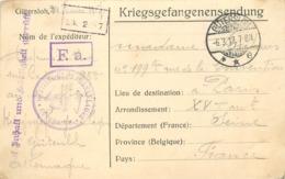 GUERRE 1914-18 -  Kriegsgefangenensendung, Camp De Gütersloh (allemagne), Voir Cachets. - Marcophilie (Lettres)