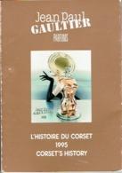 RARE : Jean-Paul GAULTIER : L'HISTOIRE DU CORSET 1995 - Livret Constitué De 8 Cartes Postales (10 X 14,5 Cm) - Duftkarten