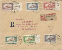 LETTRE RECOMMANDEE 1919 AVEC 6 TIMBRES AVEC SURCHARGE - Hongrie