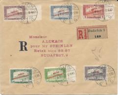LETTRE RECOMMANDEE 1919 AVEC 6 TIMBRES AVEC SURCHARGE - Hungría