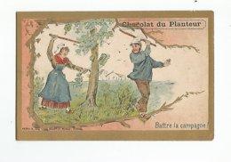 Chromos Chocolat Du Planteur Battre La Campagne - Cioccolato