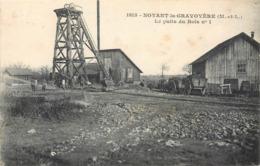 CPA 49 Maine Et Loire Noyant La Gravoyère Le Puits Du Bois No 1 - Mines De Fer - Mineurs - Mine - Francia