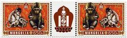 Mongolie Mongolia 3036/37 Zodiaque, Année Lunaire Du Singe - Astrologia