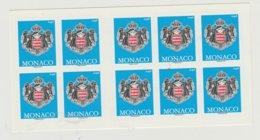 Monaco Carnet N° 19 Armoiries - Postzegelboekjes