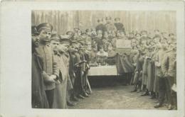 GUERRE 1914-18 -  Prisonniers En Allemagne,  Cachet Camp De Merseburg , Messe étoile Juive ,carte Photo. - War 1914-18