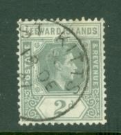 Leeward Is.: 1938/51   KGVI    SG103    2d   Olive-grey   Used - Leeward  Islands