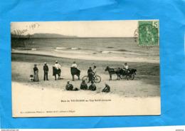 INDOCHINE-baie De THI OUANE-au Cap St Jacques-colons à Cheval-+calèche  Plan Animé +-a Voyagé 1907 éditions Mottet - Viêt-Nam