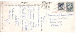 AUSTRALIE AFFRANCHISSEMENT COMPOSE SUR CARTE DE SIDNEY POUR LA FRANCE 1963 - 1952-65 Elizabeth II : Pre-Decimals