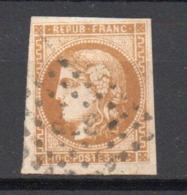 - FRANCE N° 43Bd Oblitéré Losange - 10 C. Bistre-brun Emission De Bordeaux 1871, Report 2 - Cote 150 EUR - - 1870 Bordeaux Printing