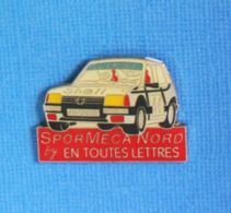 1 PIN'S //   ** PEUGEOT 205 GTI N°44 / JM FOULON / SPORT MECA NORD ** . (En Toutes Lettres) - Rally
