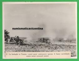 Cannoni Controcarro Battaglia Di Tunisia  Anni '40 Old Photo Istituto Luce Regio Esercito Anti-tank Battery - Guerre, Militaire