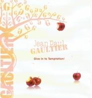 "Large Et RARE Rabat Jean-Paul GAULTIER  - SAINT-VALENTIN ""Give In To Temptation - Perfume Card USA - 19,2 X 21 Cm - Parfumkaarten"