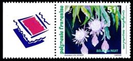 POLYNESIE 1994 - Yv. 462 ** Avec Vignette  Faciale= 0,43 EUR - Flore : La Belle De Nuit  ..Réf.POL24655 - Polynésie Française