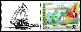 POLYNESIE 1995 - Yv. 473 ** Avec Vignette  Faciale= 0,77 EUR - Expéditions Espagnoles  ..Réf.POL24660 - Polynésie Française