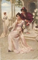 """Herbert Horwitz. Lover's Whispers"" Tuck Oiette Prize Pictures Ser. PC # 2820 - Tuck, Raphael"