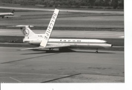 PHOTO AVION TUPOLEV 154 TAROM YR-TPG    ZURICH  12X8CM - Aviazione