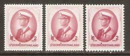 Thailand 1996/2000 Mi# 1742 I X A, 1742 I Y A, 1742 II X C ** MNH - Definitives / King Bhumibol Adulyadej - Thailand