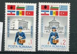 "Roumanie ** N° 3481/3482 - ""Balkanfila IX'83"" Expo - Facteur - Nuovi"