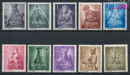 Spanien 1028-1037 (kompl.Ausg.) Postfrisch 1954 Marianisches Jahr (9368678 - 1931-Heute: 2. Rep. - ... Juan Carlos I