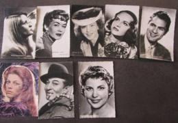 LOT De 8 CPA  ARTISTES - Nicoletta Dédicace , Ginette Leclerc , Barbara Laage , Etc.. - Lire Descriptif - Artiesten