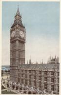 Postcard Big Ben [ Clock Tower ] Westminster London   My Ref  B13749 - Houses Of Parliament